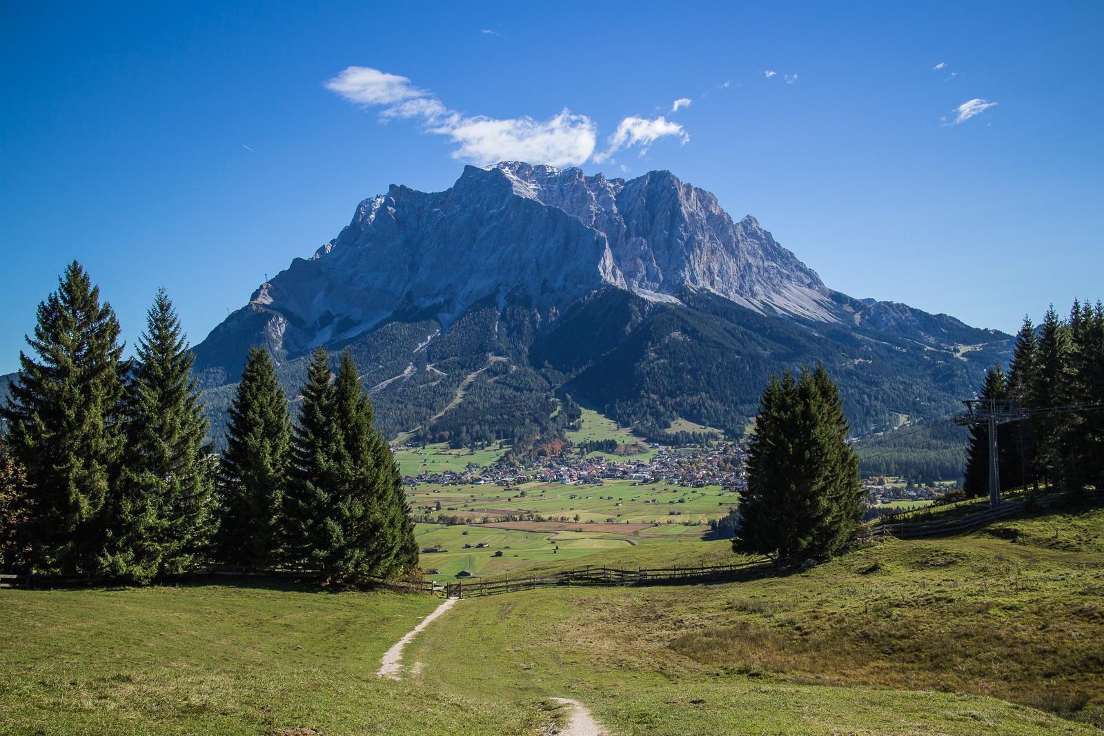 Die österreichische Seite der Zugspitze