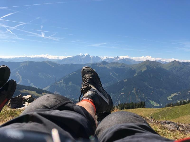 Lässiger Ausblick in Saalbach