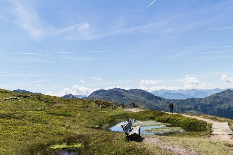Ausblick Hacklbergtrail Saalbach Hinterglemm