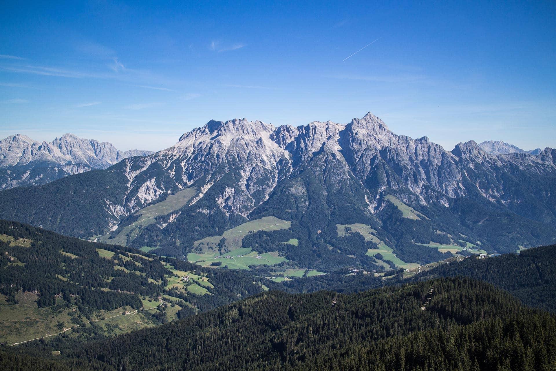 Saalbach Ausblick Berge